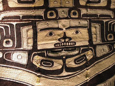 Chilkat woven blanket at the Museum of Northern British Columbia, Prince Rupert, BC
