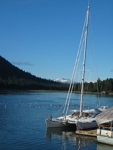 ADAGIO berthed in Petersburg, Alaska