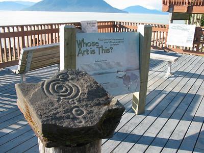 Petroglyphs in Wrangell, AK