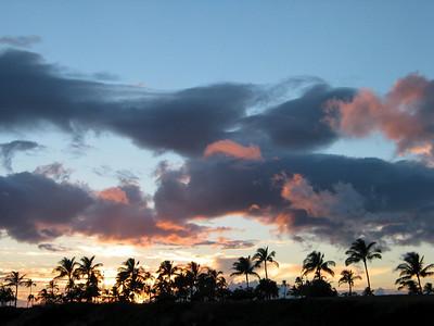 Sunset from ADAGIO berthed at Ko Olina, Oahu, Hawaii