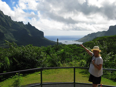View of Cook's  Bay from the lookout on Moorea, French Polynesia