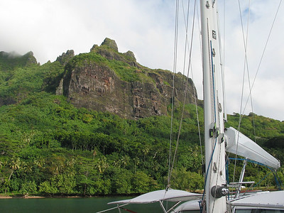 ADAGIO at anchor in Cook Bay, Moorea, French Polynesia