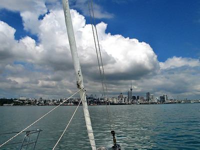 ADAGIO enters Auckland Habour for the first time.
