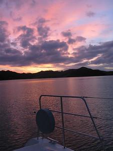 Sunset from Parakura Bay, Bay of Islands, NZ
