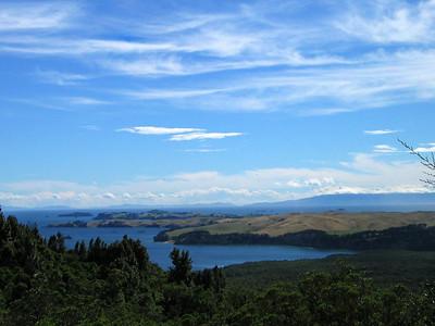 View of Motutapu Island from Rangitoto Island
