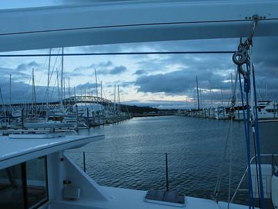 ADAGIO enjoying another peaceful evening at Westhaven Marina