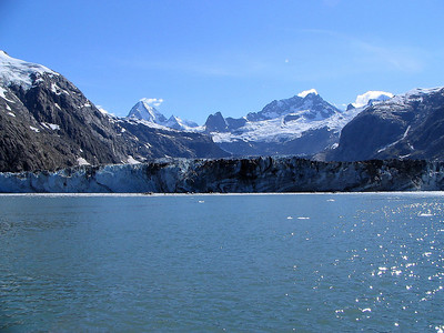 Johns Hopkins Glacier - two miles from the face.