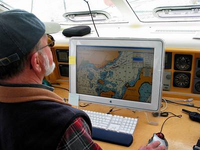 Steve navigates ADAGIO safely through Sergius Narrows