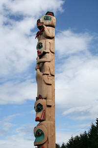 Totem pole raising in Klawock, Prince of Wales Island