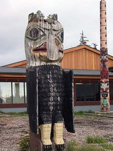Hydaburg totem pole carved in the 1930's