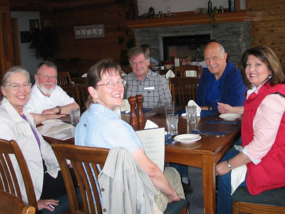 Dorothy, Steve, Linda, Dave, Chuck and Gail (Shelter Cove Lodge for dinner)