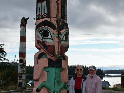 Steve and Dorothy at Hydaburg totem park.