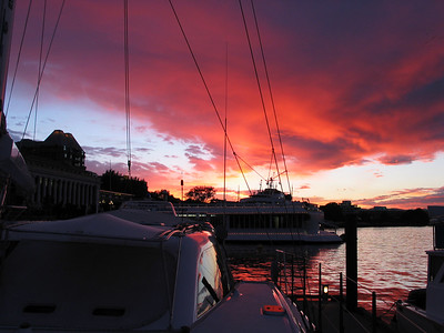 Sunset from ADAGIO foredeck