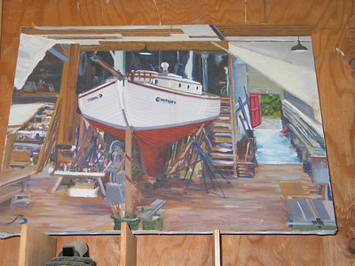 Note the resemblance between this painting at Brion Toss Rigging...