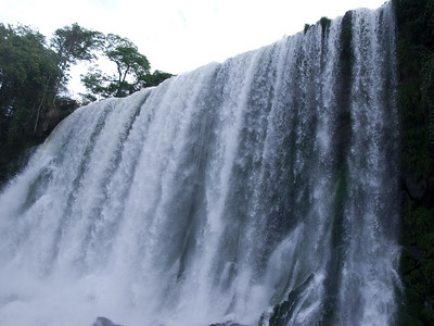This is the water flowing down the Iguazu River.