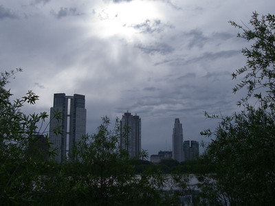 View of the Puerto Morena barrio of Buenos Aires from the Reserve.