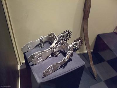 Silver spurs worn by Spanish horseman.