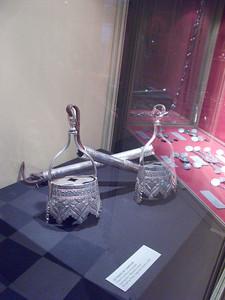 Silver Spanish horseman's stirrups