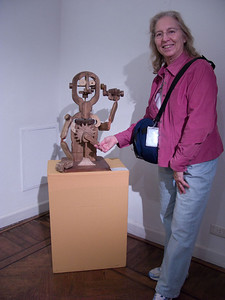 Clever wooden sculpture in the Museo de Motivos Argentinos Jose' Hernandez