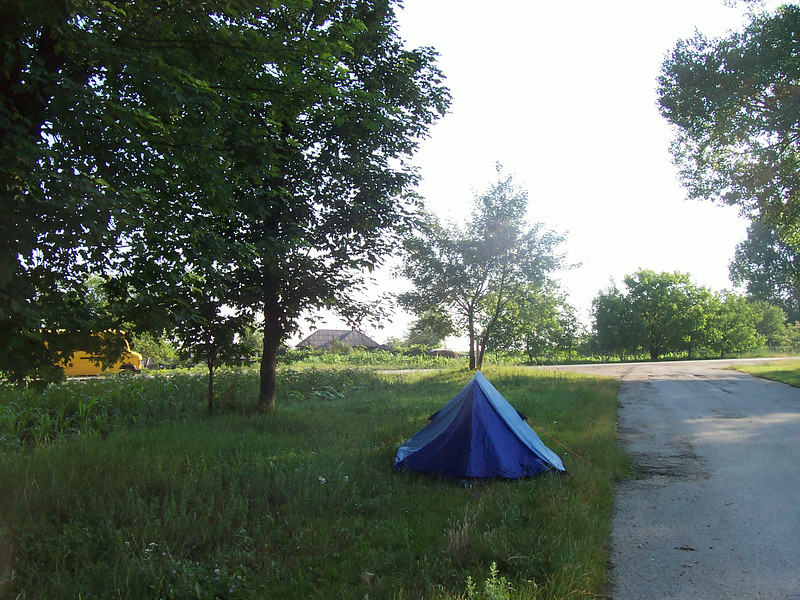 first camping just across the border to moldova.