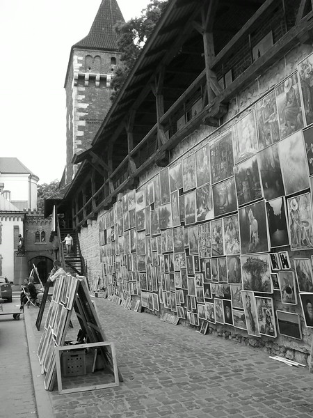 art at old krakow city wall