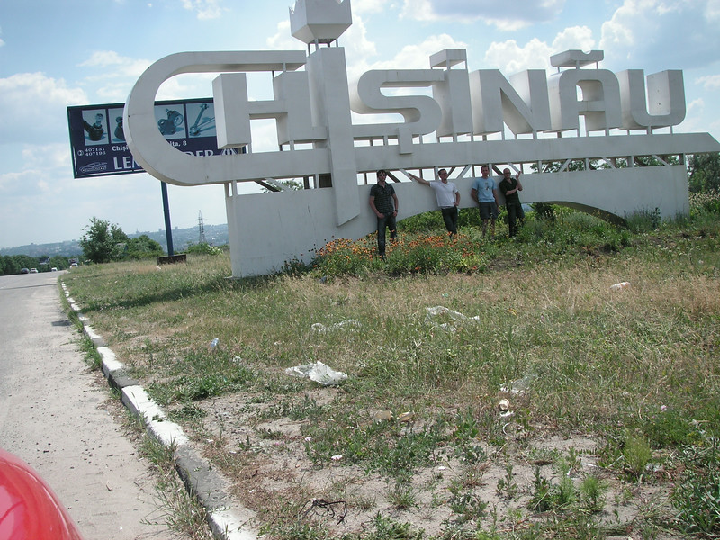 entering the moldovan capital chisinau.