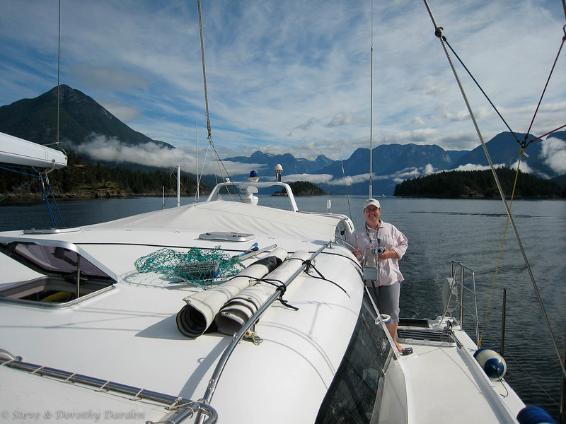Kim and a lovely view of Desolation Sound