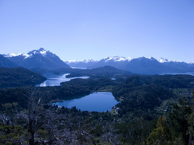 This is the first of a 5 photo panorama of the view from left to right, towards the Andes mountains.