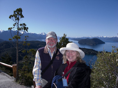 A friendly tourist snapped this photo of Steve and Dorothy at the top of Cerro Campanario.