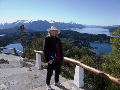 Dorothy poses at the lookout on Cerro Campanario.