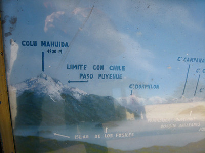 Several displays showed us the names of the mountains and the passes to Chile. This one shows Paso Puyehue, the pass that we took to Chile during our lakes crossing expedition.