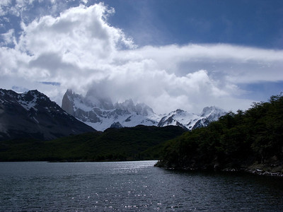Lake Capri with Mt. Fitz roy in cloud