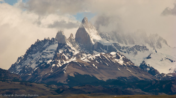 First view of Mount Fitz Roy