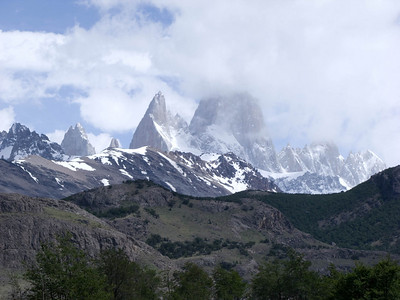 Mt. Fitz Roy in the clouds