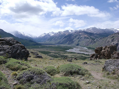 View of the valley of the Fitz Roy River