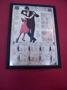 Everywhere in Argentina there are tango classes and shows, and just casual tango dancing.  We found this instructional poster on the wall of a small cafe.