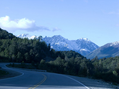 The drive between Bariloche and El Bolson bring mountain vistas and lovely forest scenes.