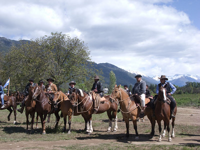The horses were highly disciplined.  The men were undoubtedly masters of their steeds.