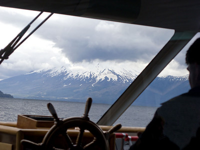 View from the wheelhouse of our boat.
