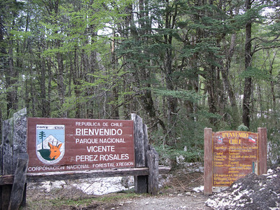 These signs are at the top of the pass across the Andes mountains, as we crossed the border from Argentina into Chile.
