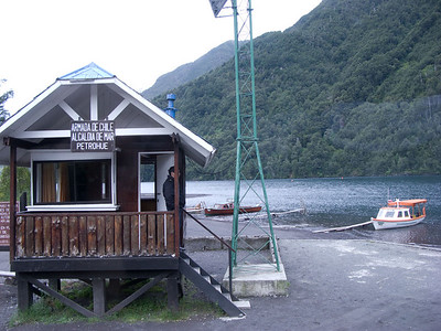 Office of the Chilean Armada (navy) on one of the lakes we crossed.