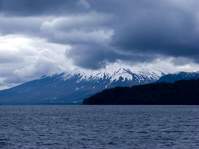 Mount Osorno coming into view.