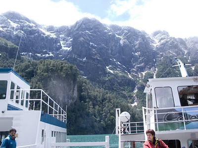 View of the Andes foothills from our boat