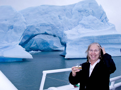 Dorothy, too, with icebergs in her cocktail!