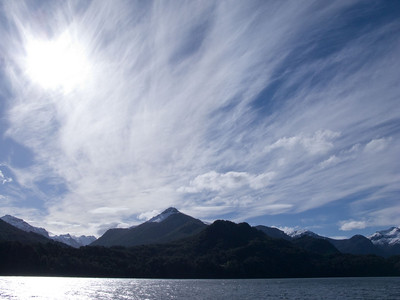 Dorothy photographed this cloud formation as we returned to Bariloche.