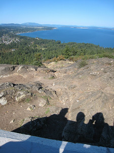 View from Mt. Douglas to the San Juan Islands