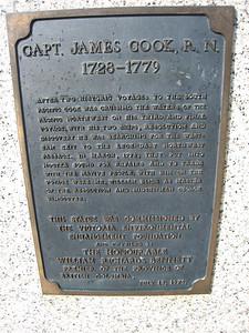 Plaque for Captain James Cook in Victoria Harbour