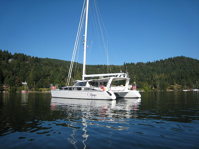 ADAGIO at anchor in Montague Harbor, Gulf Islands, BC