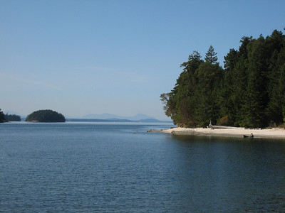 View from the shoreline trail of Gray Peninsula, Montague Harbour Marine Park