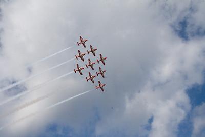 The Snowbirds flew directly over ADAGIO,